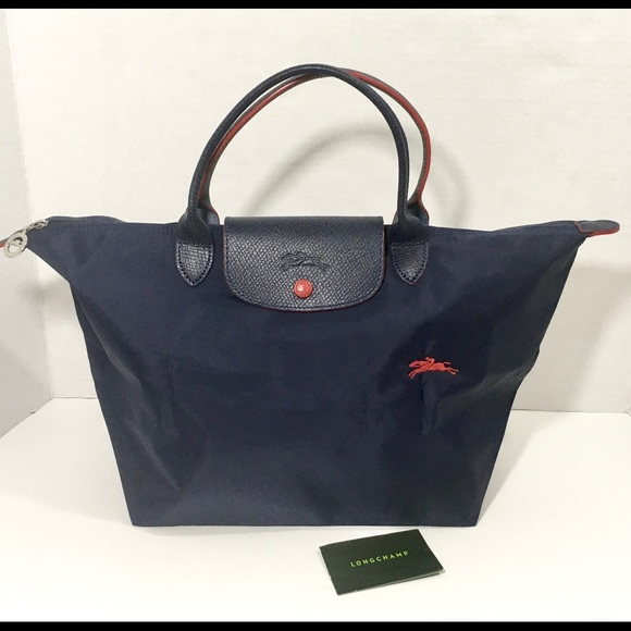 09cf101ca4a4 Longchamp Le Pliage Club navy tote